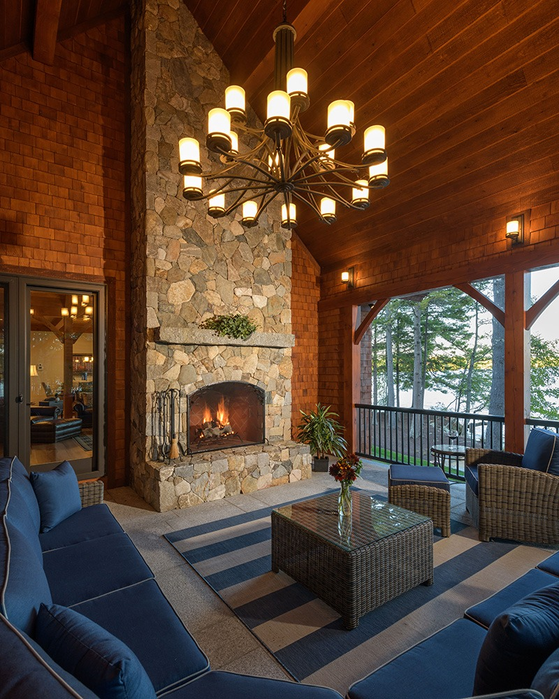 Sunroom Fireplace