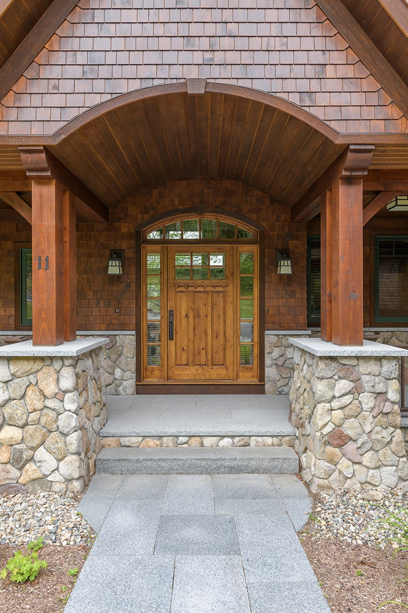 Stone Porch Entryway