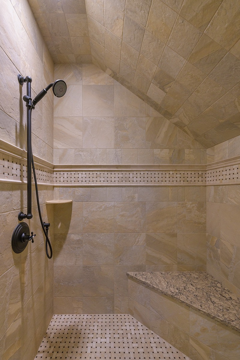 Private Bathroom Stone Shower