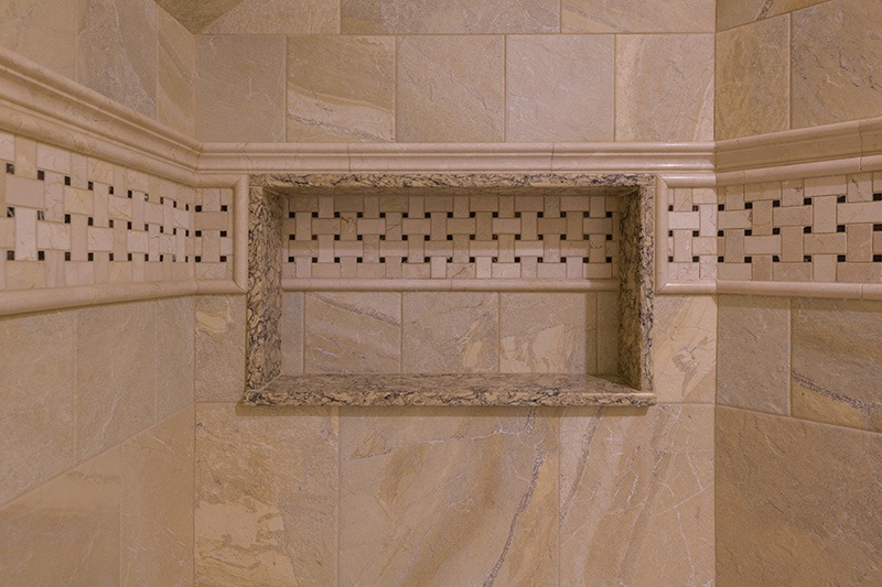 Private Bathroom Stone Shower Detail