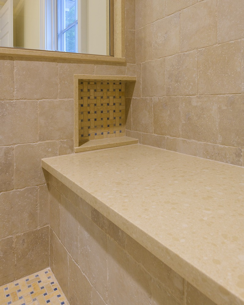 Stone Bathroom Shower Seating