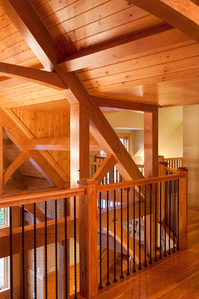 Inside exposed beams